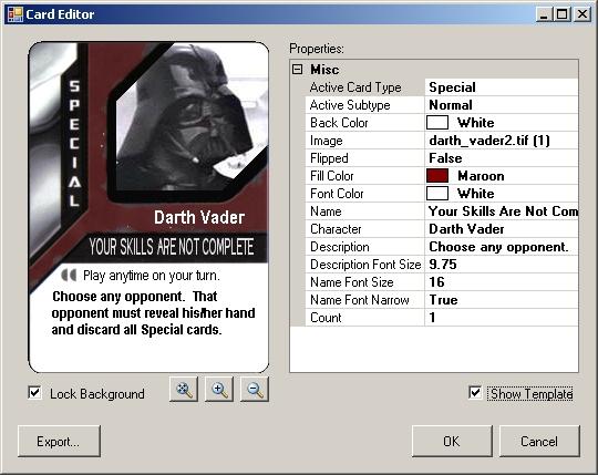 Star Wars Epic Duels / Deck Designer